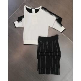 Maglia bianco/nero - Penny Black