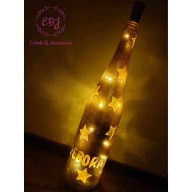 Bottiglia Illuminante Personalizzabile con Nome/Auguri