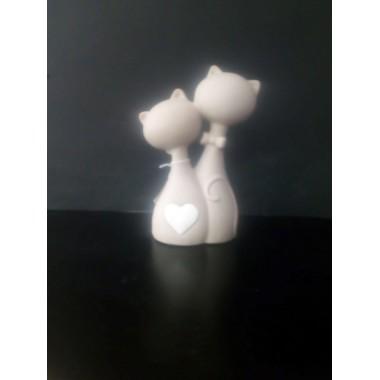 Coppia gatti ceramica - Villa Altachiara